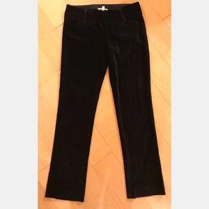 Alice + Olivia Black Velvet Pants, Size 10